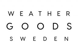 weathergoods sweden logo small black text on white background